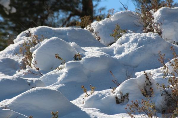 Το χιόνι που έφερε  ο βοριάς.